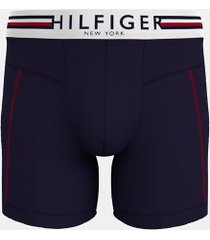 tommy hilfiger men's hilfiger microfiber boxer brief navy - l