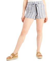 indigo rein juniors' striped pull-on shorts