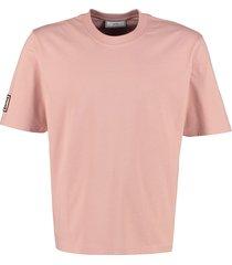 ami alexandre mattiussi cotton t-shirt with patch