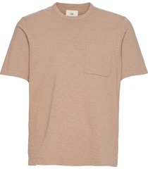slub pocket tee t-shirts short-sleeved brun folk