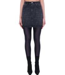 balenciaga skirt in black denim