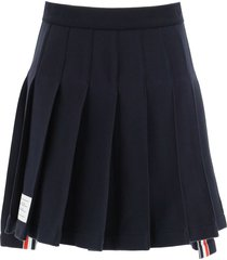 thom browne pleated loopback cotton mini skirt