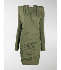 alexandre vauthier wrap front mini dress
