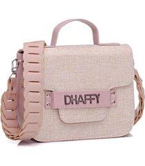 bolsa dhaffy alça de mão e transversal artesanal palha feminina