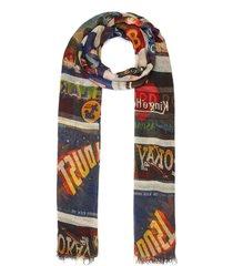 'new target' cashmere blend scarf