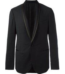 lanvin stitched shawl lapel jacket - black