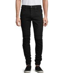 hudson men's ethan biker skinny jeans - black - size 36