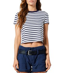 rain striped crop t-shirt