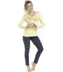 pijama inspirate de inverno stars colorful feminino - feminino