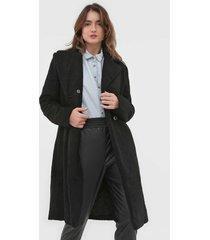 casaco sobretudo colcci pelo preto - preto - feminino - poliã©ster - dafiti