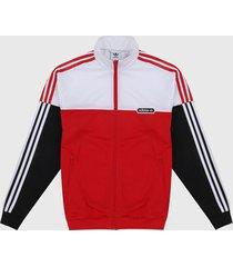 chaqueta rojo-blanco-negro adidas originals firebird spliti