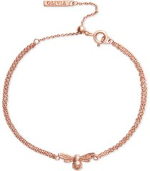 olivia burton lucky bee pendant chain bracelet