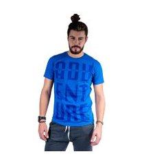 camiseta mister fish estampado adventure azul royal