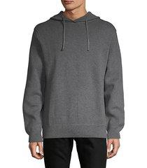 textured cotton hoodie