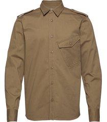 aim overhemd casual bruin tiger of sweden jeans
