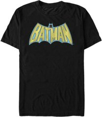fifth sun dc men's batman retro cape logo short sleeve t-shirt
