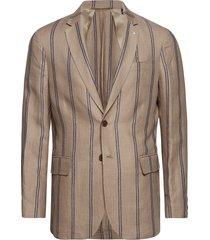 o1. the ivy stripe blazer blazer colbert beige gant