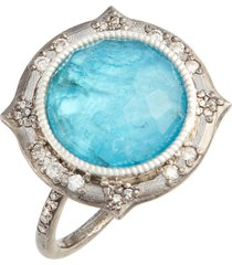 armenta new world apatite doublet ring, size 7 in silver/apatite/white quartz at nordstrom