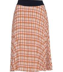 bitte print skirt knälång kjol orange modström