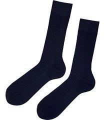 calzedonia - short ribbed egyptian cotton socks, 44-45, blue, men
