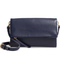 nordstrom eleanor leather crossbody bag - blue