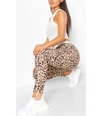 everyday luipaardprint legging, brown
