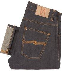 nudie jeans fearless freddie dry selvage jeans - loose anti fit 112457
