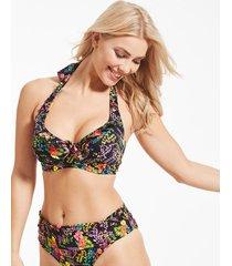 hot spots halter underwire bikini top