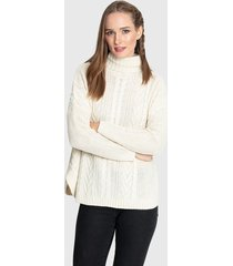sweater privilege tejido blanco - calce oversize