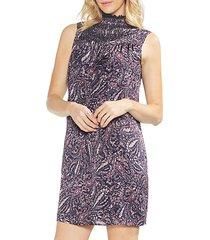 sapphire bloom paisley muse shift dress