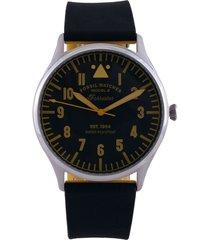 reloj negro-amarillo fossil