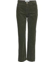 larke corduroy pantalon met rechte pijpen groen arnie says