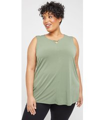 crisscross timeless tunic tank