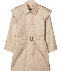 balmain beige trench coat teen