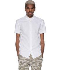 minimum casual overhemd met korte mouwen ecru