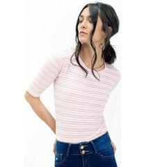 camiseta para mujer color-rosa-mag-talla-s