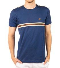 camiseta cuello redondo sesgos azul navy ref. 107061119