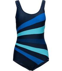 action swimsuit baddräkt badkläder blå abecita