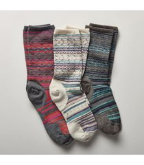 ethno graphic socks, set of 3