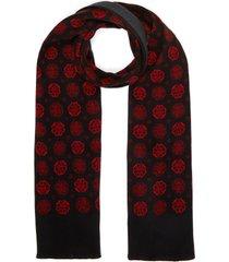 floral pattern wool scarf