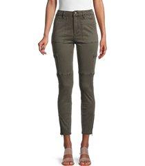joe's jeans women's the charlie cropped utility jeans - blitz - size 30 (8-10)