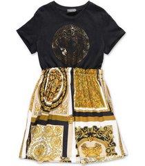 contrasting panels t-shirt dress