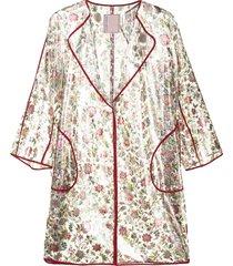 antonio marras floral-print transparent rain coat - multicolour