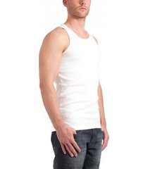 garage singlet semi bodyfit white ( art 0401)
