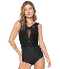 body calvin klein underwear renda preto