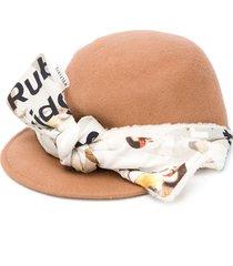 wolf & rita bow-embellished hat - neutrals