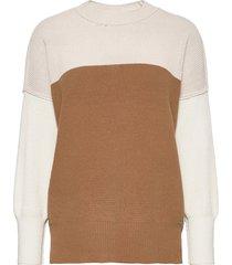 anf womens sweaters stickad tröja brun abercrombie & fitch