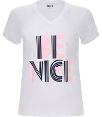 camiseta descanso be nice color blanco, talla xl