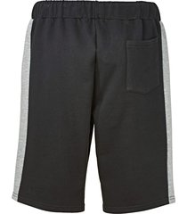 shorts i sweatshirtmaterial men plus svart::grå