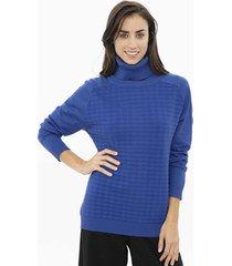sweater azul etam fantasia